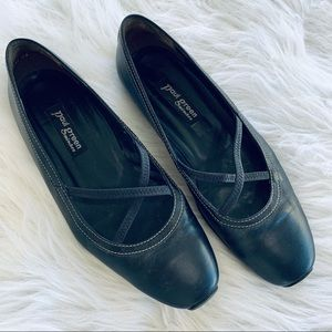 Paul Green Black Leather Strappy Driving Loafers